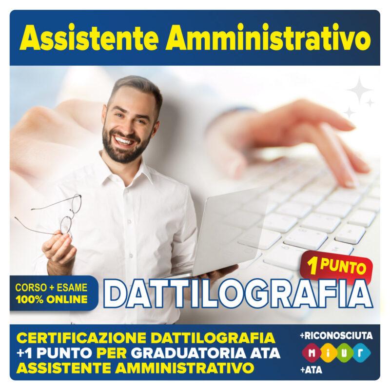 DATTILOGRAFIA certificazione assistente amministrativo