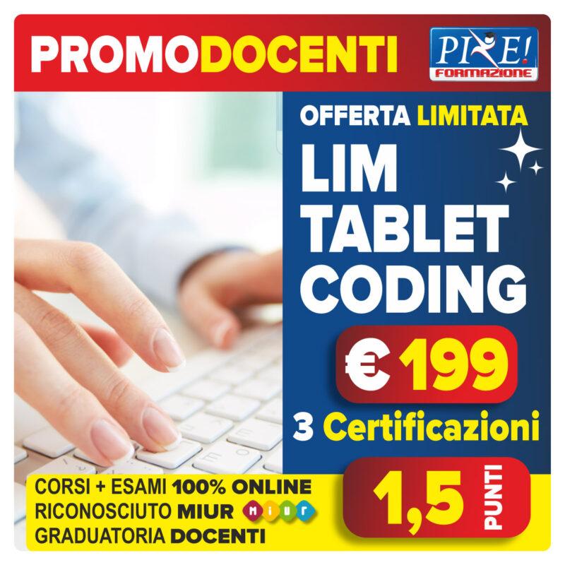 LIM-TABLET-CODING certificazioni docenti riconosciute MIUR