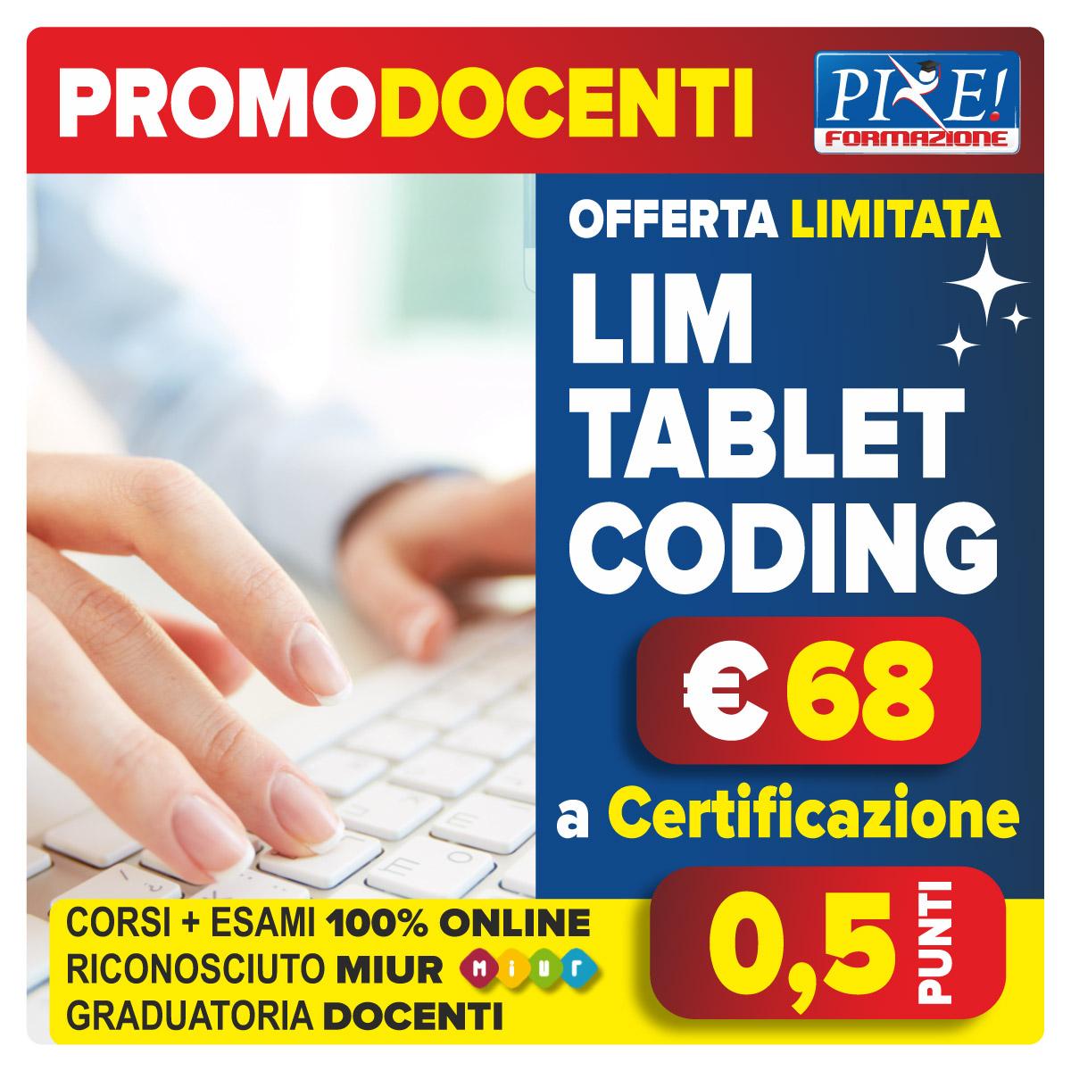 Acquista una certificazione a scelta, ti costa solo € 68 € e ottieni 0,5 punti per docenti