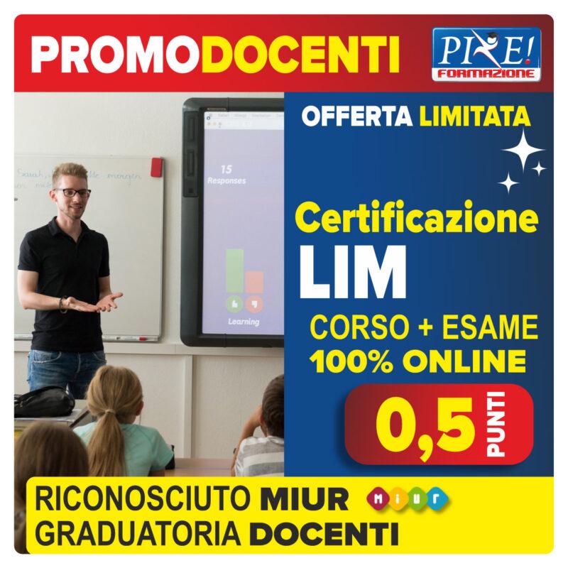 LIM certificazione docenti riconosciuto MIUR